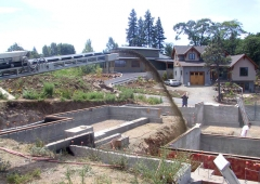 Ultra Stone Slinger back filling foundation walls